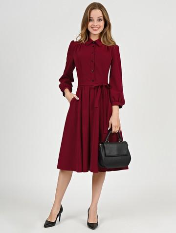 Платье luisa, цвет бордовый