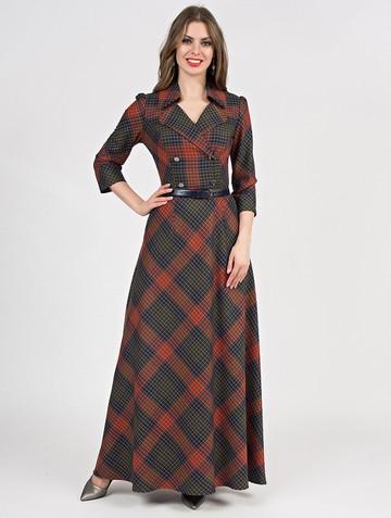 Платье lafetta, цвет красно-синий