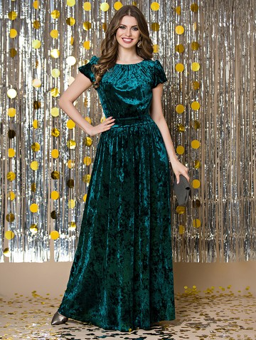 Платье veridy, цвет изумрудный