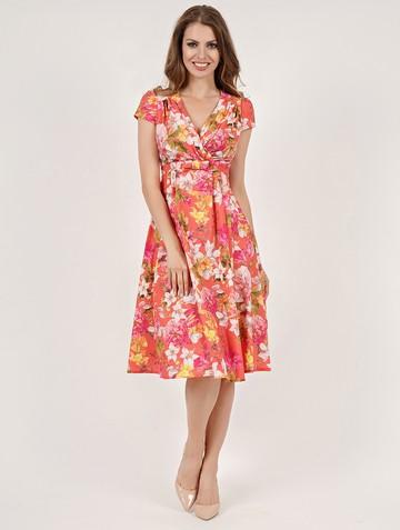 Платье paulina, цвет оранжево-желтый