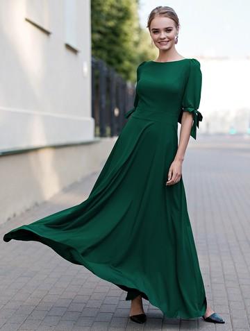 Платье zlata, цвет изумрудный