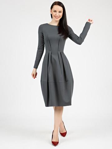 Платье nona, цвет серый