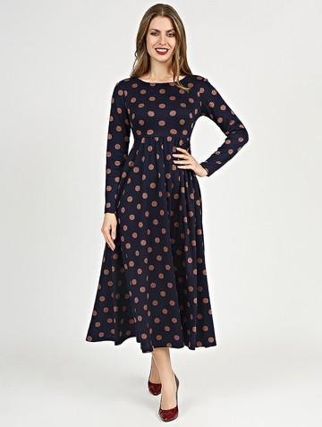 Платье sapfira, цвет сине-кофейный