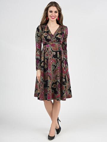 Платье allin, цвет черно-малиновый