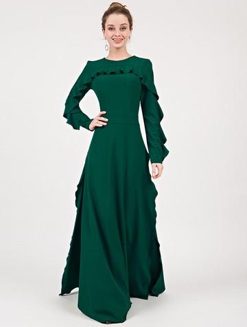 Платье soledat, цвет изумрудный