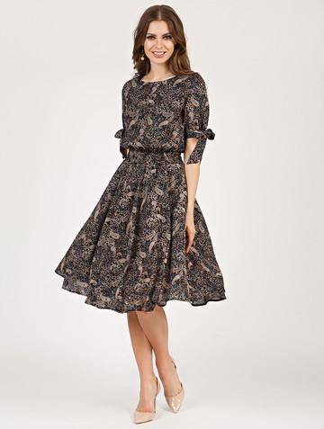 Платье alika, цвет черно-бирюзовый