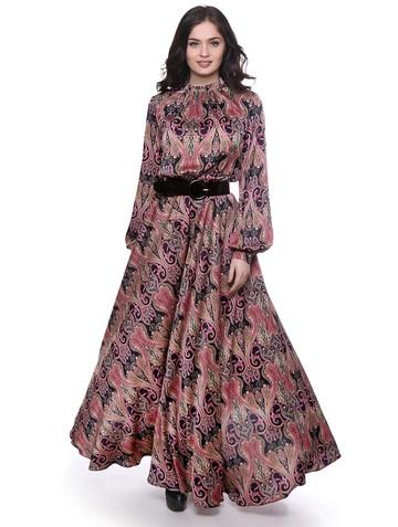 Платье mita, цвет черно-малиновый