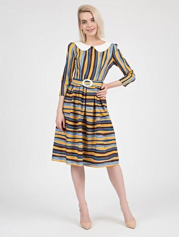 Платье risly, цвет желто-синий