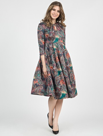 Платье linnea, цвет лилово-малахитовый