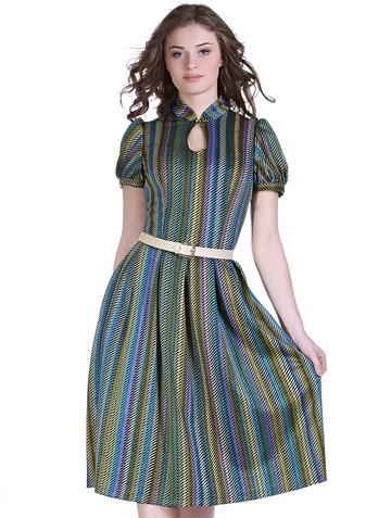 Платье nensy, цвет бирюзово-желтый