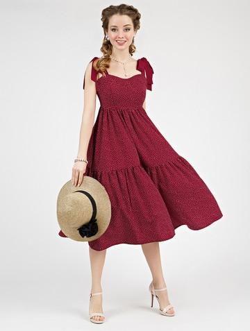 Платье mexy, цвет бордовый