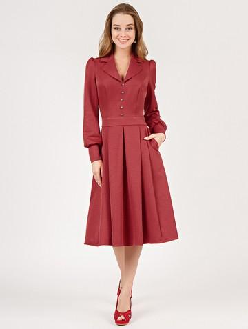 Платье dalva, цвет терракотовый
