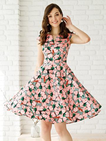 Платье bakly, цвет серо-розовый