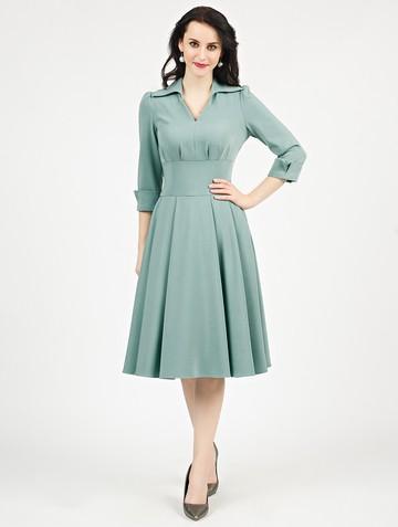 Платье alvina, цвет серо-зеленый