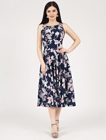 Платье lubava, цвет сине-серый