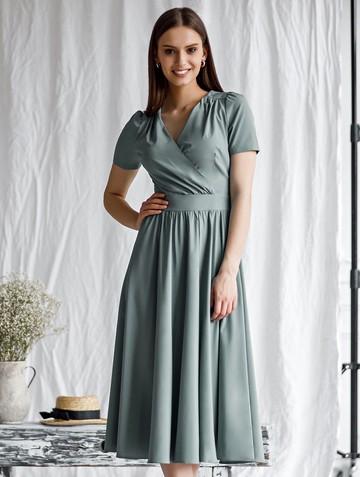 Платье atery, цвет серо-зеленый