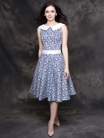 Платье galika, цвет вензеля на синем