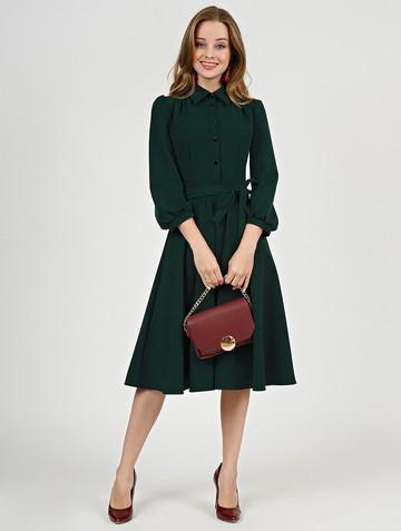 Платье luisa, цвет темно-зеленый