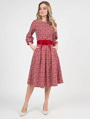 Платье evdokia, цвет молочно-красный