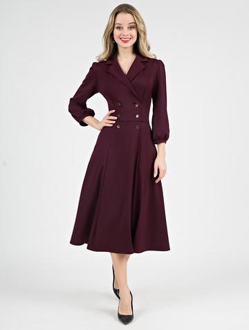 Платье uliana, цвет бордовый