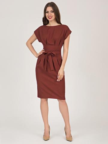 Платье sitta, цвет терракотовый