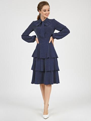 Платье linsy, цвет сине-белый