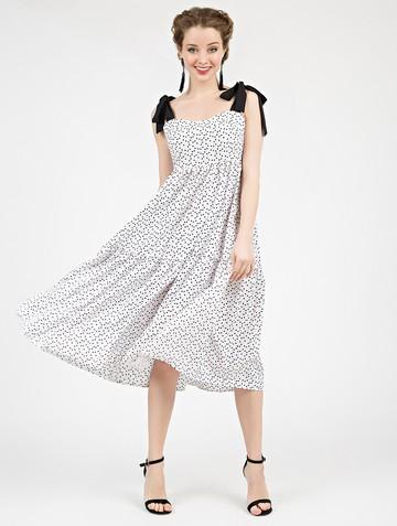 Платье mexy, цвет бело-черный