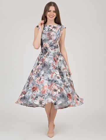 Платье midora, цвет серо-коричневый
