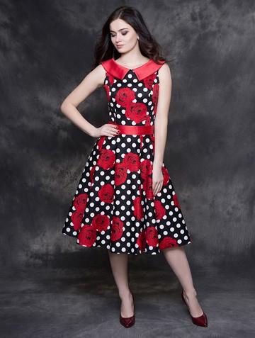 Платье galika, цвет розы на черном