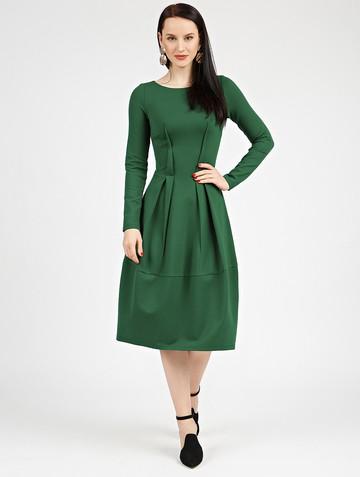 Платье nona, цвет темно-зеленый