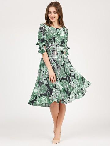 Платье alika, цвет черно-зеленый
