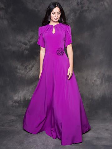Платье nardin, цвет насыщенно-сиренев