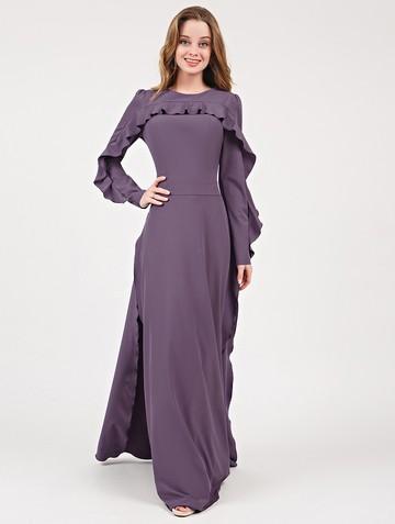 Платье soledat, цвет серо-лиловый