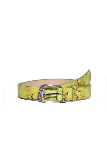 Ремень Rm-008, цвет зеленая рептилия