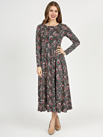 Платье sapfira, цвет малахитовый