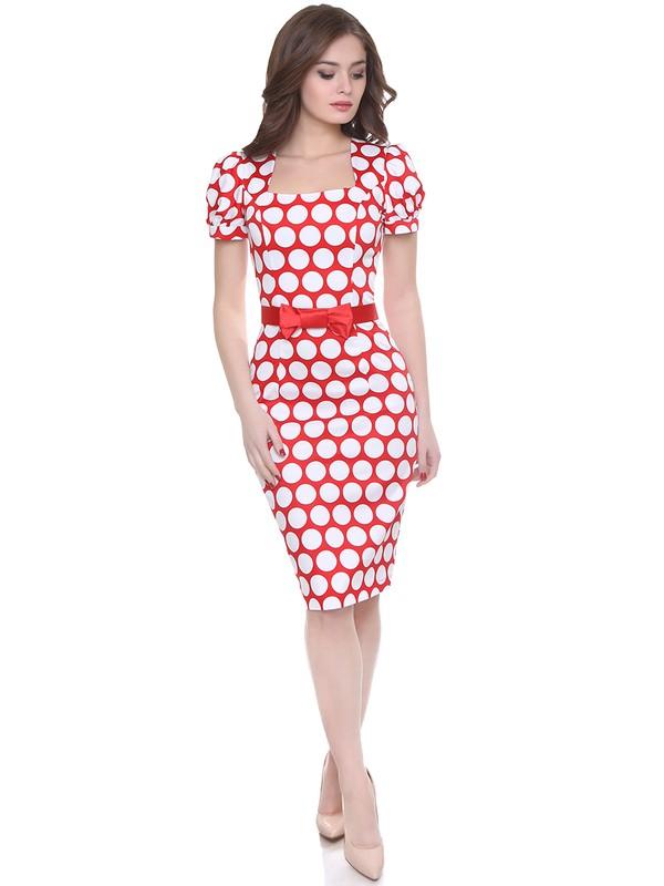 a8e009d2b45 Купить Платье daisy горошек на красном в Москве по цене 2796.0 руб в ...