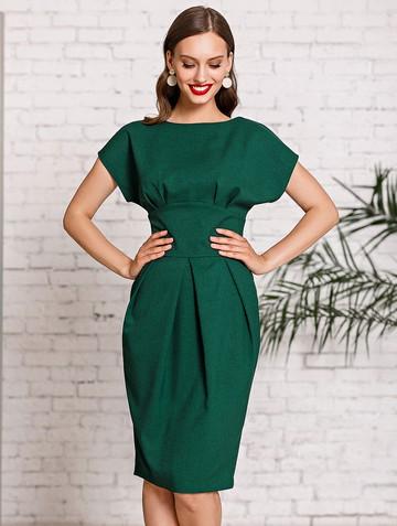 Платье rodika, цвет темно-зеленый