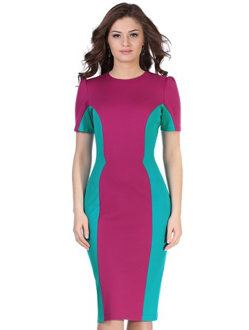 Платье milly, цвет пурпурно-бирюзов