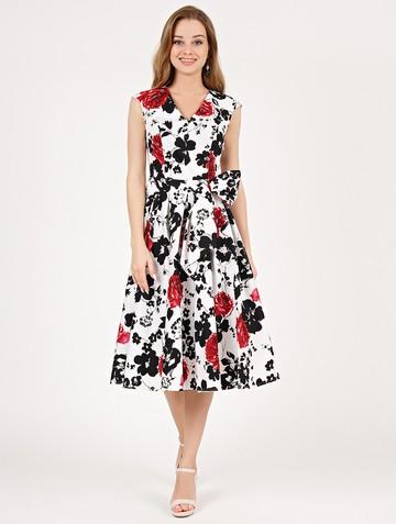 Платье ulana, цвет бело-красный