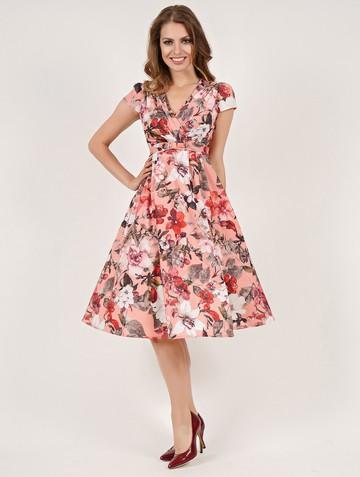 Платье paulina, цвет розово-серый