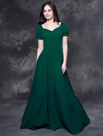 Платье lesly, цвет насыщенно-зеленый
