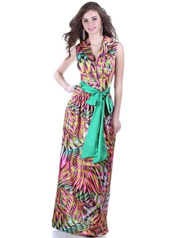 Платье veron, цвет желто-зеленый