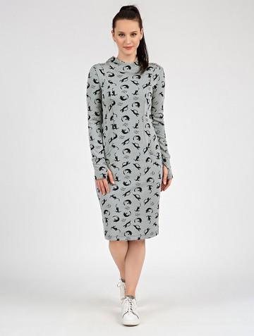 Платье nixy, цвет серый