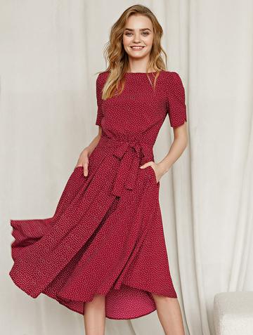 Платье allia, цвет бордовый
