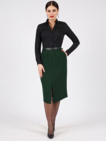 Юбка iraida, цвет темно-зеленый