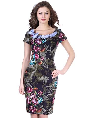 Платье djinn, цвет бирюзовые цветы