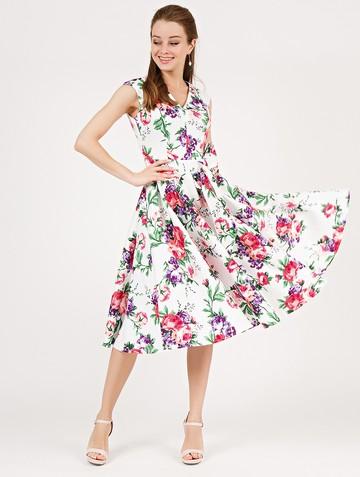 Платье ulana, цвет бело-розовый