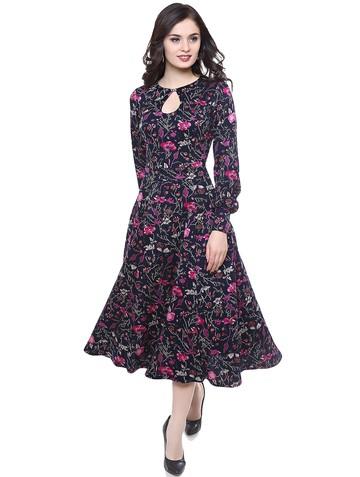 Платье onika, цвет маки на синем