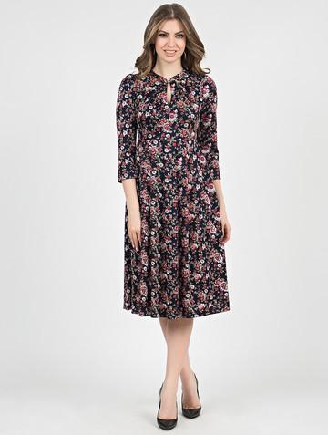 Платье linnea, цвет сине-бордовый