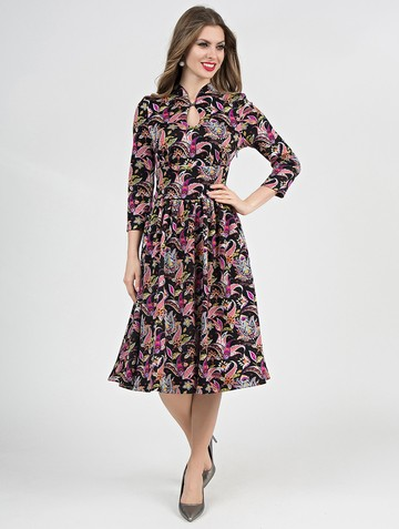 Платье aram, цвет черно-розовый